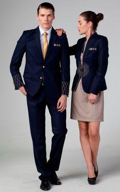 formal uniform options for office Corporate Uniforms, Airline Uniforms, Staff Uniforms, Corporate Outfits, Work Uniforms, Hotel Uniform, Office Uniform, Uniform Ideas, Kellner Uniform
