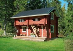 Inkeroinen traditional luhtiaitta guest house Outdoor Living, Outdoor Decor, Home Fashion, Countryside, Tiny House, Shed, Outdoor Structures, Cabin, Traditional