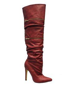 Another great find on #zulily! Red Halima Boot by Michael Antonio #zulilyfinds