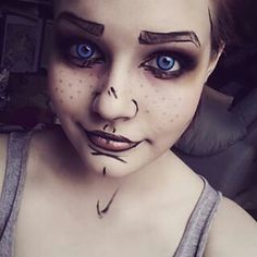 How to make a cell shaded make up. Cosplay Tutorial, Cosplay Diy, Cosplay Makeup, Halloween Cosplay, Costume Makeup, Best Cosplay, Halloween Makeup, Cosplay Ideas, Cool Costumes