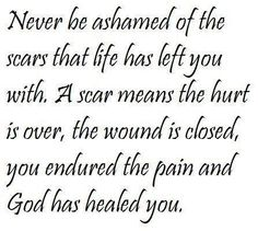 God has healed you