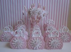 Pink Princess Favor BoxesParty Favor Boxes Straw by ByAdalynn