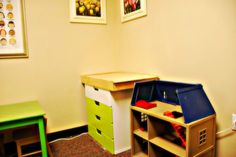 Play Therapy Room - Sand Tray, Figurines, and House | Repinned by Melissa K. Nicholson, LMSW http://www.adoptioncounselinggr.com