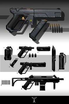 ArtStation - Weapons, Fred Augis