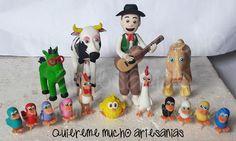 CANCIONES DE LA GRANJA ADORNOS TORTA PORCELANA FRIA Clay Figures, Air Dry Clay, Peppa Pig, Photo Displays, 2nd Birthday, Ideas Para, Party Themes, My Design, Pastel