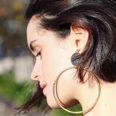 Chloe Hill, Clementine Hoops. Shop the look http://christie-nicolaides.myshopify.com/products/clementine-gold