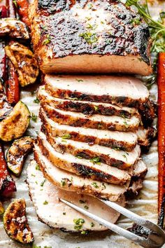 This easy Grilled Pork Roast is prepared with a delicious spice rub plus a sweet and savory 7-Up marinade. You won't find a more flavorful and juicy pork loin recipe! Grilled Pork Roast, Pork Roast Recipes, Juicy Pork Loin Recipe, Ham Sausage Recipe, Just Cooking, The Best, Spice Rub, Stuffed Peppers, Food And Drink