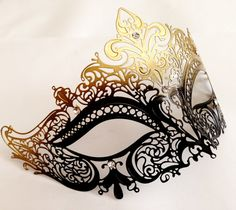 Gold Ombre Filigree Mask for Halloween Party Metal Mask for Women on Etsy, $29.00