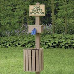 dog waste station - Google Search