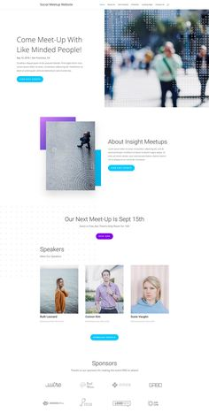 Click through to see a set of mobile-friendly webpage design layouts designed for Social Meetup Groups. Website Design Layout, Design Layouts, Ui Design, Coach Website, Event Website, Getting Rid Of Scars, New Skin, Web Design Inspiration, Ui Ux