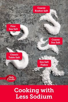 Salt makes your food taste good, but consuming too much of it can sometimes cause high blood pressure which can ultimately lead to other health issues. We know many of you are facing this reality and we have a message for you: You're not doomed to tasteless food. We're here to show you the tricks and techniques that'll reset your cooking habits. Ready to dive in? Snack Recipes, Cooking Recipes, Cooking 101, Stove Top Meatloaf, Martha Stewart Cooking School, Sea Salt Flakes, Dinner Casserole Recipes, Salty Foods, Table Salt