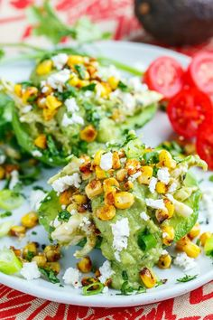 Chicken Enchilada Stuffed Avocados