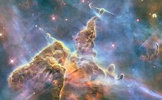 The Carina Nebula surrounds several open clusters of stars.  Eta Carinae and HD 93129A, two of the most massive and luminous stars in our galaxy, are among them.
