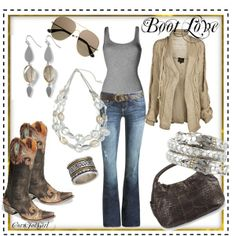 Boot Love, created by cornfedgirl on Polyvore
