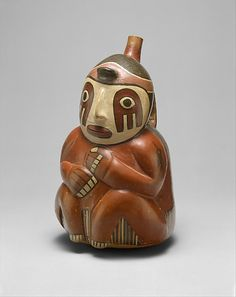 Seated Figure Bottle Date: century peru nazca Collection Ancient History, Art History, Peru Culture, Colombian Art, Peruvian Art, Art Premier, Mesoamerican, Inca, Indigenous Art