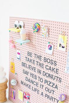 DIY Inspiration Peg Board ~ for Evie, Harper, Remy