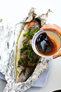 Trout fishing & 2 trout recipes (lemon & herbs, Chinese with ginger & soy based sauce) Seafood Diet, Fish And Seafood, Seafood Recipes, Cooking Recipes, Whole Trout Recipes, Grilled Trout, Baked Trout, Cooking Trout, Asian Recipes