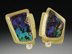 Susan Ronan  Boulder Opal Earrings
