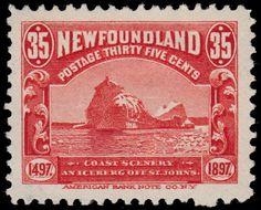 Newfoundland, 1897, Canada. An Iceberg Off St. John's. American Bank Note Co., N.Y.