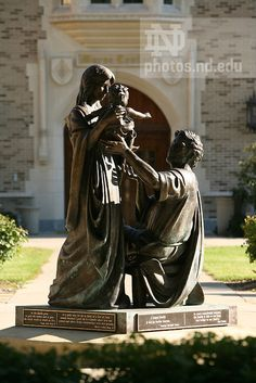 Holy Family Statue, outside Coleman-Morse Center, University of Notre Dame Photography