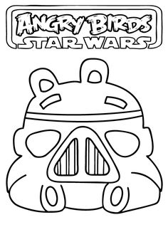 ANGRY BIRDS STAR WARS COLORING PAGE | Star Wars - Angry birds ...