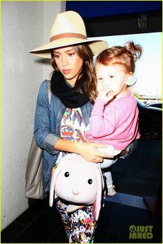 Celeb Diary: Jessica Alba @ LAX