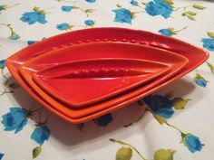 Vintage Royal Haegar Nesting Ashtrays Atomic by HemmerHomeGoods