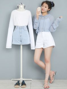 40 fashion outfits teenage korean for your perfect look this summer 7 Girl Fashion Style, Cute Fashion, Fashion Outfits, Trendy Summer Outfits, Cute Casual Outfits, Korean Fashion Trends, Korea Fashion, Aesthetic Fashion, Aesthetic Clothes