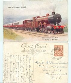 ta0085 SOUTHERN BELLE RAILWAY L.B.&S.C. SECTION ENGLAND FOREIGN POSTCARD   #twice_found_treasures