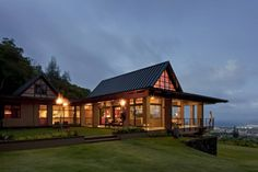 Hawaii House with Tiki Torches