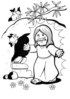 Bible Coloring Pages, Cool Coloring Pages, Idees Cate, Jesus Cartoon, Religion Catolica, Easter Story, Easter Colouring, Catholic Kids, Church Crafts