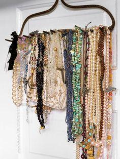 I need to make this...rake jewelry holder.