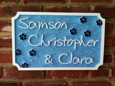 The Carving Company | Full Service Custom Carved Sign Shop | Pet name sign - 3 names (P5)