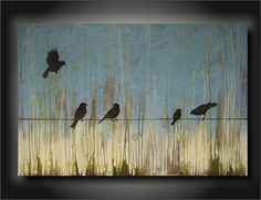 Congregation 24x36 Unique Contemporary by TheDancingBrush on Etsy, $295.00
