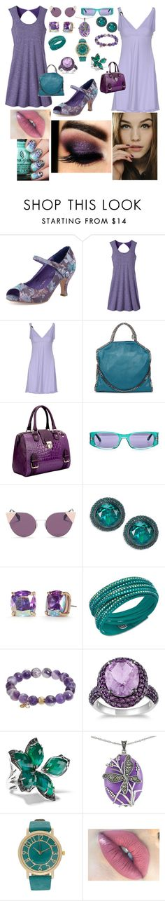 """day 51&52"" by aphroditiesdream ❤ liked on Polyvore featuring prAna, Just Cavalli, STELLA McCARTNEY, Dasein, Fendi, Kate Spade, Swarovski, TFS Jewelry, Miadora and Stephen Webster"