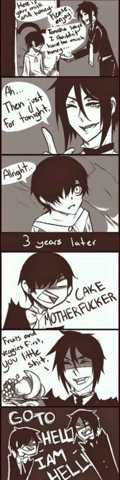 Super Ideas For Memes Anime Black Butler Ciel Black Butler, Black Butler Comics, Black Butler Funny, Black Butler Kuroshitsuji, Black Butler Texts, Anime Bad, Got Anime, I Love Anime, Ciel Phantomhive