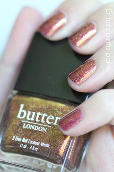 Butter London - Brown Suggar  - Et trois petits points - NPA Nails art
