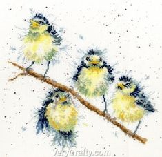 Sweet Tweet - Birds Counted Cross Stitch Kit by Hannah Dale of Wrendale Designs