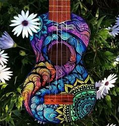 Guitarra decorada