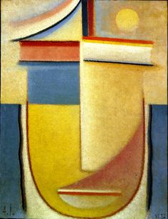 Alexei Jawlensky, Abstract Head 1927 / private collection