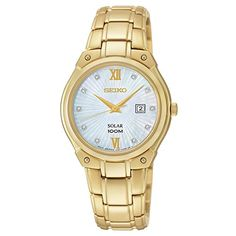 Seiko Women's SUT216 Analog Display Analog Quartz Gold Watch -- Check this awesome product by going to the link at the image. (This is an affiliate link)