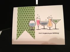 Stampin' Up! Happy Hour stamp set.  Love this card!!