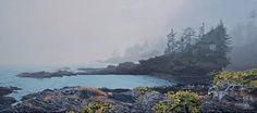 Ron Parker - Botany Bay Fog - 24 x 54 - oil on canvas