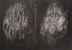 """jeweils o.T. ( AUS DER SERIE """"LÜSTER""""),  2013  Acryl auf Leinwand, 140 x 100 cm Chandelier, Ceiling Lights, Painting, Collection, Home Decor, Canvas, Homemade Home Decor, Candelabra, Chandeliers"""