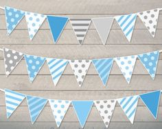 Baby Shower Bunting Pennant Printable Baby by RainbowMonkeyArt Baby Shower Bunting, Baby Shower Photo Booth, Baby Boy Shower, Baby Shower Games, Rainbow Monkey, Imprimibles Baby Shower, Photo Booth Party Props, Sunshine Baby Showers, Its A Boy Balloons