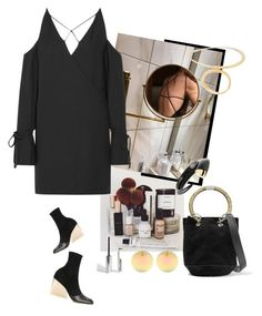 """""""BLACK DRESS"""" by statuslusso ❤ liked on Polyvore featuring IRO"""