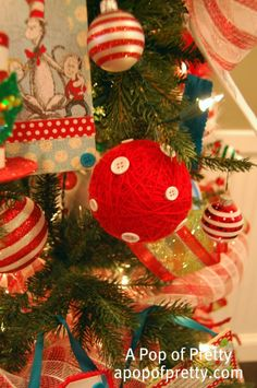 My Dr. Seuss Christmas Tree | A Pop of Pretty: Canadian Decorating Blog
