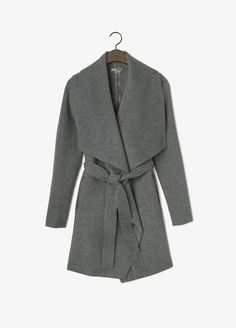 Leather Trim Asymmetric Car Coat | Vince