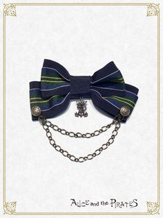 Alice and the Pirates Ariana stripe bow tie