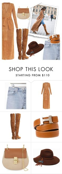 """""""Get the look: Alessandra Ambrosio"""" by oliverab ❤ liked on Polyvore featuring RE/DONE, Balmain, Gianvito Rossi, Hermès, Chloé, ále by Alessandra, GetTheLook, AlessandraAmbrosio and parisfashionweek"""